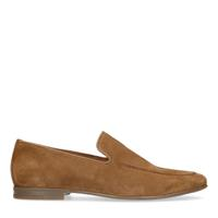 Manfield Camel suède loafers