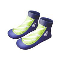 Beco zwemsokken Sealife jongens neopreen blauw/groen 21