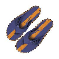 Beco teenslippers heren donkerblauw/oranje