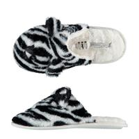 Apollo pantoffels zebraprint