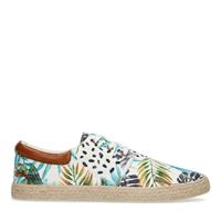 Sacha Witte canvas sneakers met jungleprint - multicolor