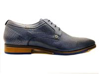Blauwe  Veterschoenen Matteo Leather
