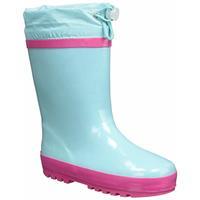 Playshoes regenlaarzen basic streep turquoise /35