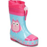 Playshoes regenlaarzen Uil /29 lichtblauw/roze