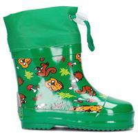 Playshoes korte regenlaarzen bosdieren groen 8