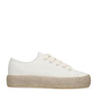 Sacha Off white sneakers met touwzool - wit