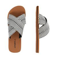 O'Neill Ditsy Slide Sandals slippers wit/zwart