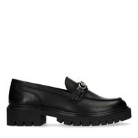 Sacha Zwarte loafers met plateau zool - zwart