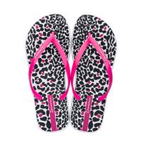 Ipanema Animal Print teenslippers wit/roze