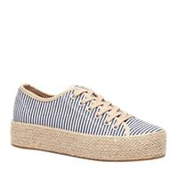 Scapino Blue Box plateau espadrilles blauw/wit