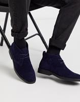 New Look - Desert boots van imitatiesuède in marineblauw