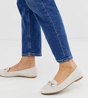 New Look - Loafers met staafje in gebroken wit-Crème