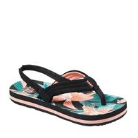Reef Little Ahi teenslippers zwart/multi