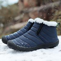 newchic Men Outdoor Warm Plush Lining Waterproof Slip Resistant Ankle Boots