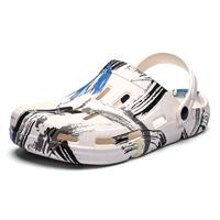 newchic Men Closed Toe Printed Outdoor Beach Water Hole Sandals