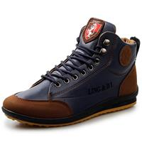 newchic Men Retro PU Leather Splicing Non Slip Casual Ankle Boots