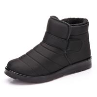newchic Men Elastic Hook Loop Stripe Waterproof Casual Ankle Boots