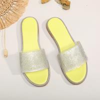 newchic Large Sizes Women Rhinestone Flats Slippers