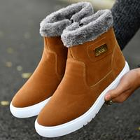 newchic Men Synthetic Suede Warm Lining Slip On Non-slip Ankle Boots