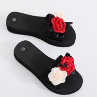 newchic Women Flowers Decor Platform Soft Bottom Slippers