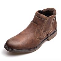 newchic Men Vintage Side Zipper Waterproof Casual Chelsea Ankle Boots