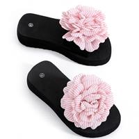 newchic Women Flowers Decor Lightweight Non Slip Slides Slippers