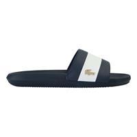 lacoste Marineblauwe slippers met gouden krokodil