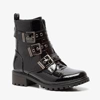 Blue Box dames lak biker boots