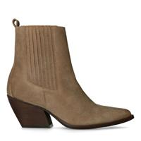 Manfield Taupe suède western boots