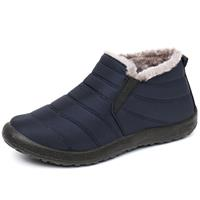 newchic Men Waterproof Fabric Plush Lining Slip On Casual Ankle Boots