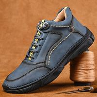 newchic Men Vintage Handmade Microfiber Leather Ankle Boots