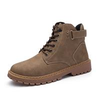 newchic Men Outdoor Work Style Lace Up Ankle Leather Boots