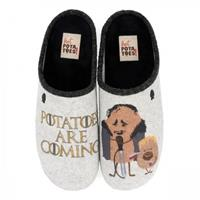 Hot Potatoes Pantoffel men 56837 grey-schoenmaat 40 41