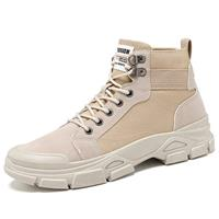 newchic Men High Top Outdoor Work Style Slip Resistant Canvas Boots