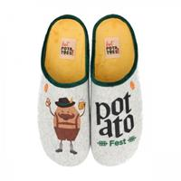 Hot Potatoes Pantoffel men garesnica grey-schoenmaat 40
