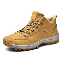 newchic Men Microfiber Leather Slip Resistant Outdoor Casual Hiking Shoes