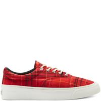 Converse Twisted Plaid Skid Grip Low Top