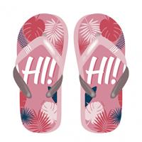 Arditex teenslippers Tropical Hi! dames roze/rood