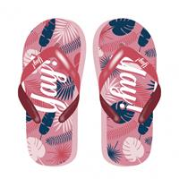 Arditex teenslippers Tropical Yay! dames roze/blauw