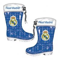 Real Madrid regenlaarzen junior blauw/wit