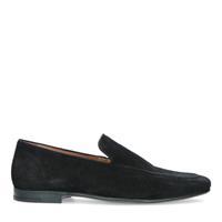 Manfield Zwarte suède loafers