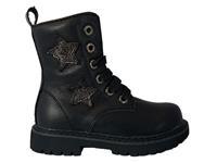ShoesMe Zwarte  Veterboots Sterren