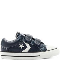 Converse Leather + Heathered Knit Easy-On Star Player Low Top Shoe