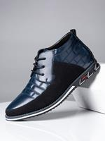 newchic Men Round Toe Lace Up Business Casual Leather Ankle Boots