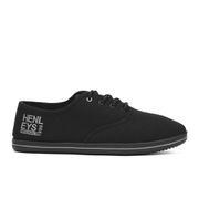 Henleys Men's Stash Canvas Pumps - Black - Zwart