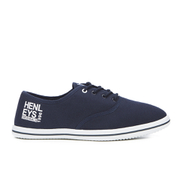 Henleys Men's Stash Canvas Pumps - Navy - Blauw