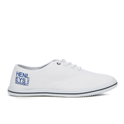 Henleys Men's Stash Canvas Pumps - White - Wit