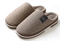 Visgraat pantoffels voor dames en heren Maat 42/43 - Coffee