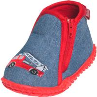Playshoes pantoffels brandweerwagen blauw 8/19