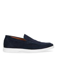 Sacha Donkerblauwe suède loafers